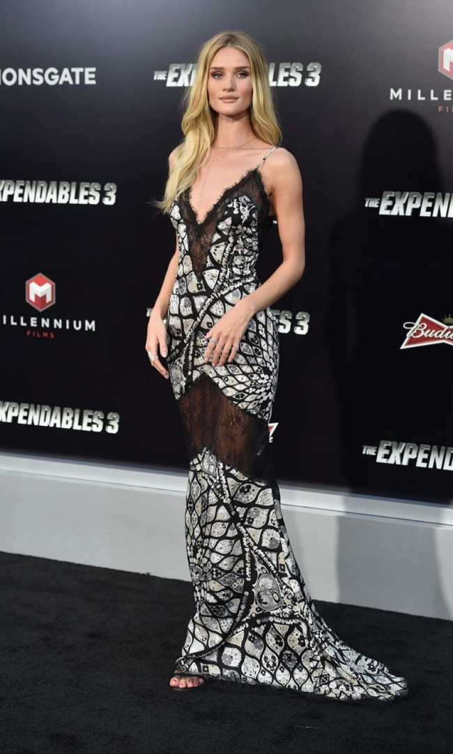 "Rosie Huntington-Whiteley in Emilio Pucci Slip Dress at ""The Expendables 3"" LA Premiere"