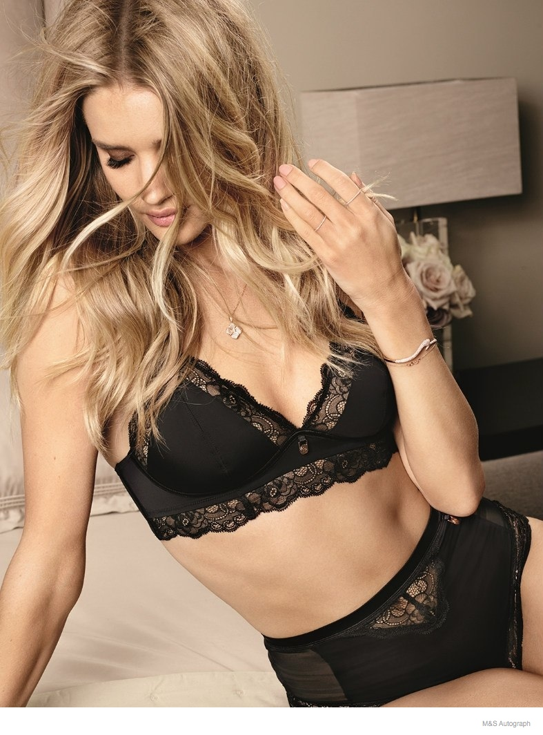 rosie huntington whiteley underwear autograph 2014 03 Rosie Huntington Whiteley Models Underwear in New Autograph Lingerie Line