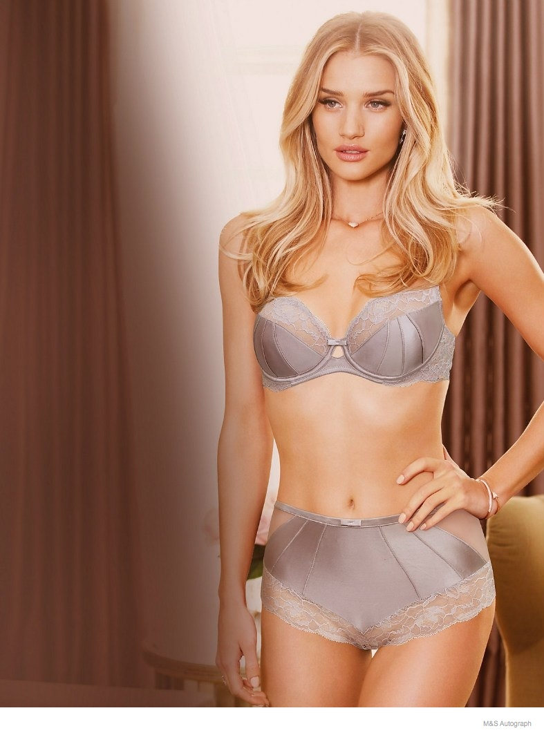 rosie huntington whiteley underwear autograph 2014 05 Rosie Huntington Whiteley Models Underwear in New Autograph Lingerie Line