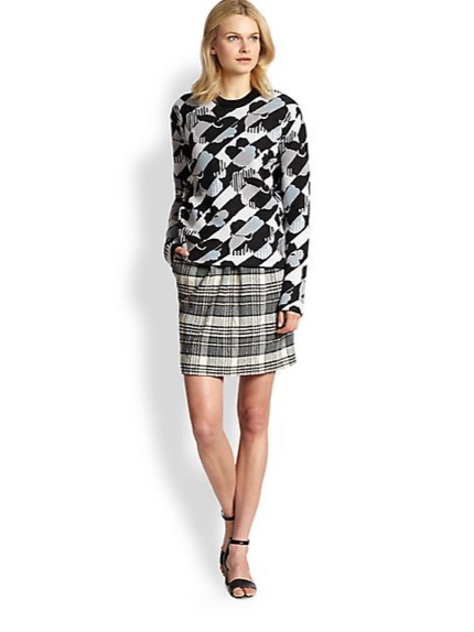 See by Chloe Pleat-Front Plaid Pencil Skirt available at Shopbop for $235.00