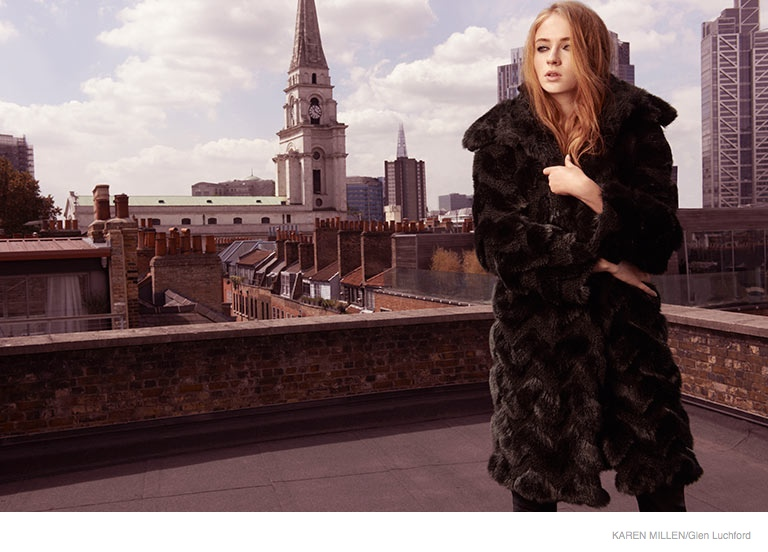 sophie turner karen millen 2014 fall ad campaign01 Game of Thrones Sophie Turner Stars in Karen Millen Fall 2014 Campaign