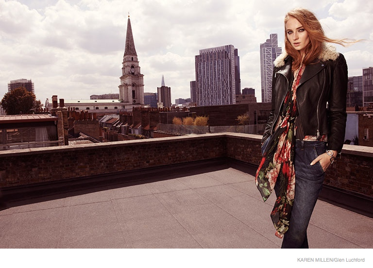 sophie turner karen millen 2014 fall ad campaign02 Game of Thrones Sophie Turner Stars in Karen Millen Fall 2014 Campaign