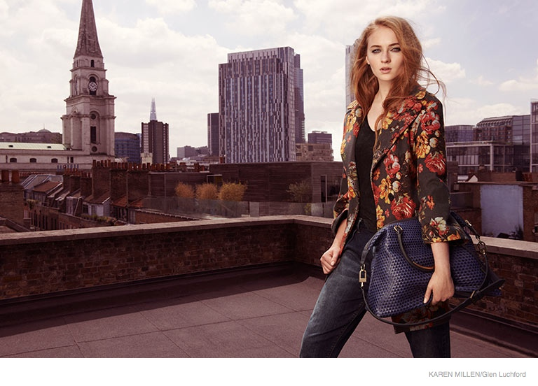 sophie turner karen millen 2014 fall ad campaign03 Game of Thrones Sophie Turner Stars in Karen Millen Fall 2014 Campaign