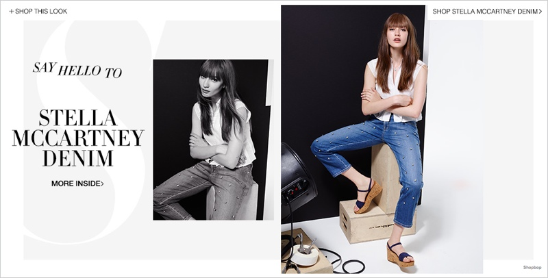 stella mccartney denim shopbop01 Marine Deeleuw Models Stella McCartney Denim for Shopbop