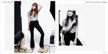 Marine Deeleuw Models Stella McCartney Denim for Shopbop