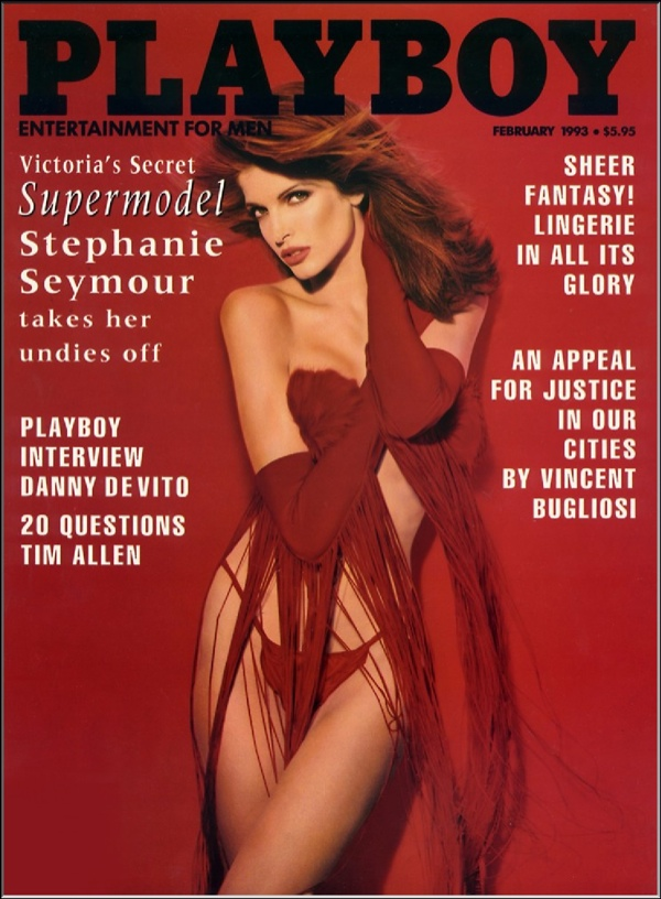 Stephanie Seymour was red hot on Playboy February 1993 Cover