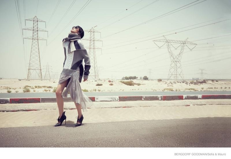 tao okamoto bergdorf goodman shoot10 Tao Okamoto Wears Sleek & Modern Style for Bergdorf Goodman's Fall Catalogue