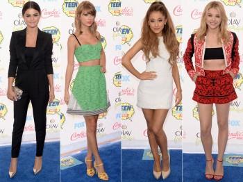 2014 Teen Choice Awards Red Carpet Style: Taylor Swift, Selena Gomez, Ariana Grande + More