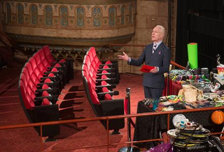 MAKE IT WORK IN THE MOVIES: Tim Gunn gives challenge rules. Photo: Lifetime