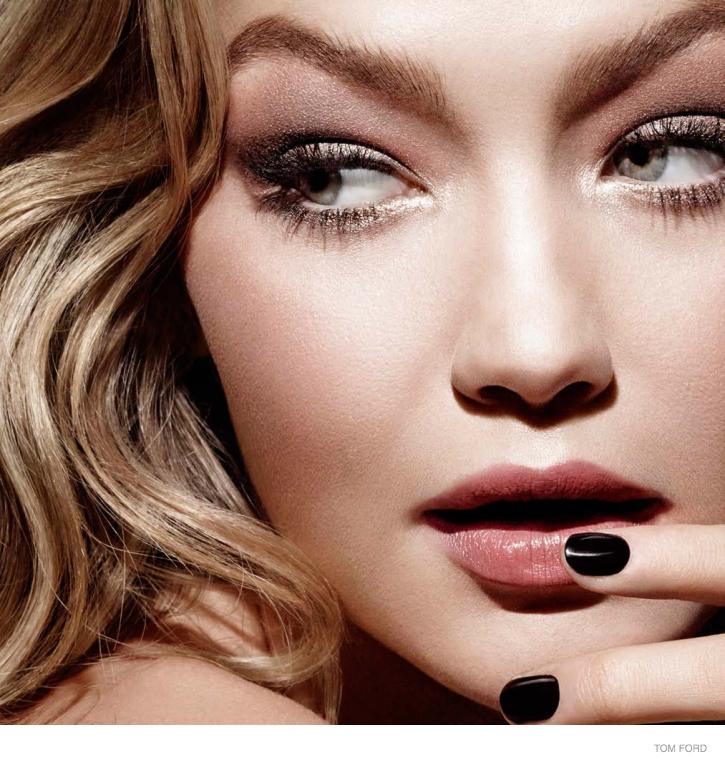 tom ford cosmetics ad campaign gigi hadid 01 Gigi Hadid is Flawless in Tom Ford Makeup Campaign