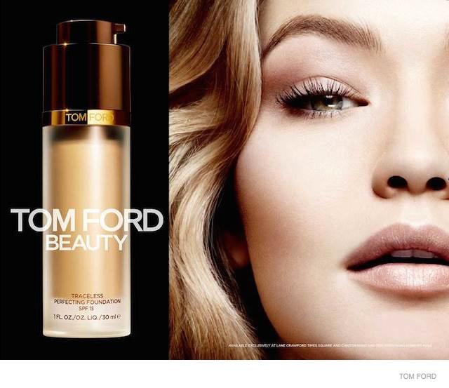 tom ford cosmetics ad campaign gigi hadid 02 Gigi Hadid is Flawless in Tom Ford Makeup Campaign