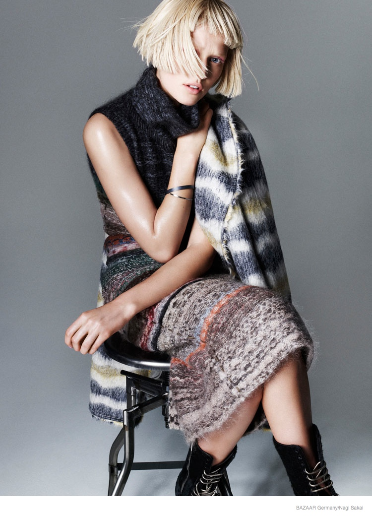 Toni Garrn Rocks Fall Style for Nagi Sakai Shoot in Harper's Bazaar Germany