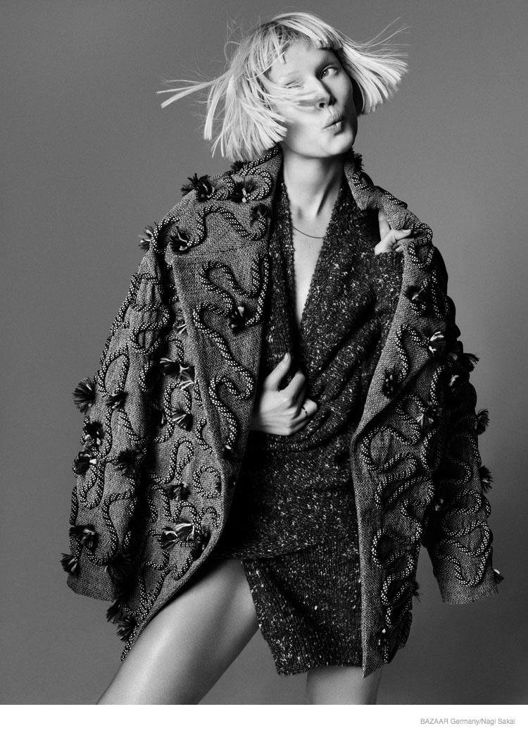 toni garrn fall fashion10 Toni Garrn Rocks Fall Style for Nagi Sakai Shoot in Harpers Bazaar Germany