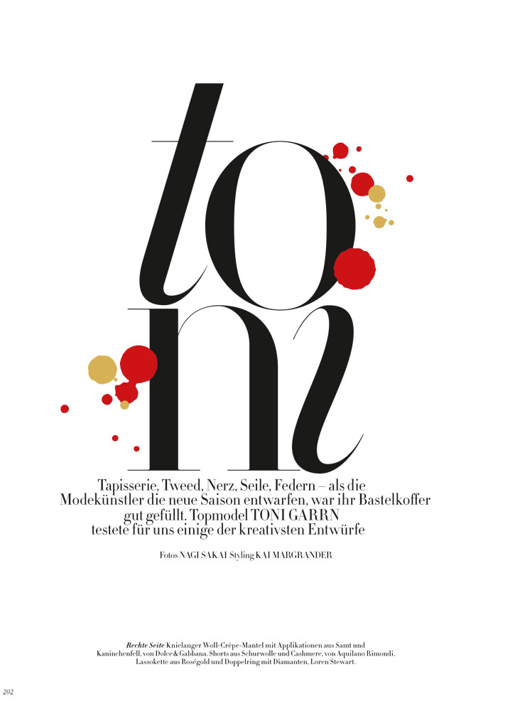 toni title Toni Garrn Rocks Fall Style for Nagi Sakai Shoot in Harpers Bazaar Germany