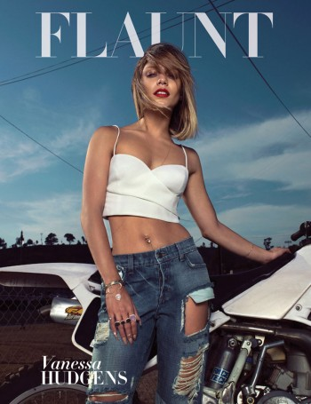 Vanessa Hudgens Rocks Crop Top, Ripped Denim on Flaunt #136 Cover