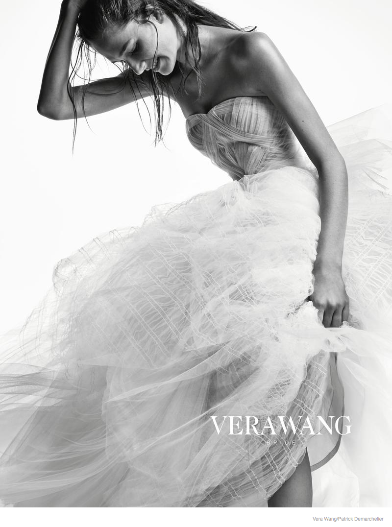 vera wang bridal 2014 fall ad campaign02 Josephine Le Tutour is a Not So Blushing Bride in Vera Wangs Fall 2014 Ad Campaign