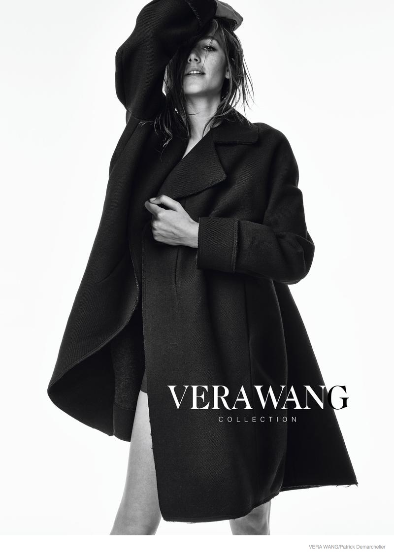 vera wang clothing 2014 fall ad campaign02 Josephine Le Tutour in Oversized Outerwear for Vera Wang Fall 2014 Campaign