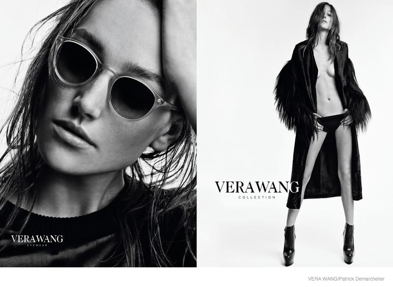 vera wang clothing 2014 fall ad campaign05 Josephine Le Tutour in Oversized Outerwear for Vera Wang Fall 2014 Campaign