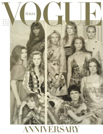 Vogue Italia Features 50 Models on its September 2014 Cover