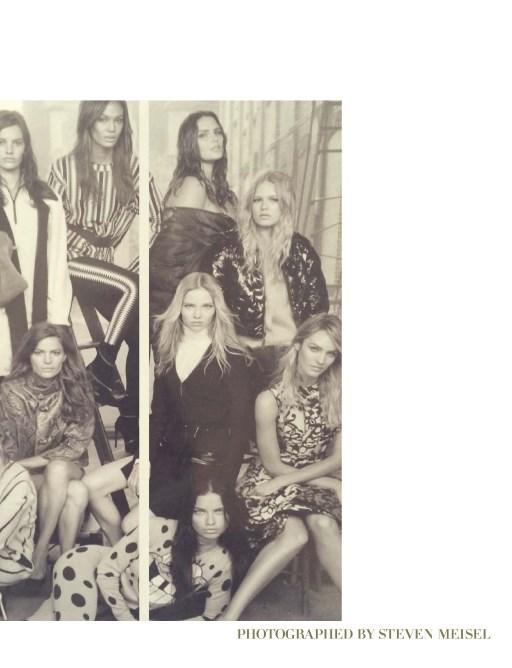 Isabeli Fontana, Amanda Murphy, Caroline Trentini, Cameron Russell, Joan Smalls, Candice Huffine, Anna Ewers, Sasha Luss, Adriana Lima and Candice Swanepoel