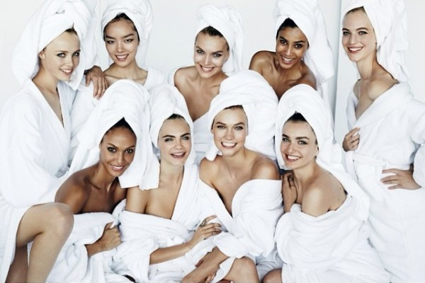 "Earlier this week, Testino also revealed the ""Towel Series"" image featuring the September Vogue cover girls"