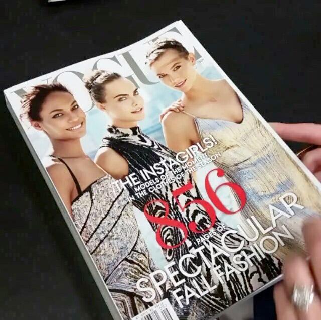 First Look: Models Karlie Kloss, Cara Delevingne & Joan Smalls Cover Vogue's September Issue
