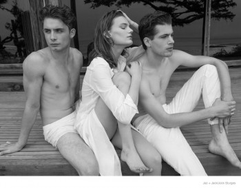 Lena Hardt Lounges in All White Styles for Jac + Jack's Spring 2014 Campaign