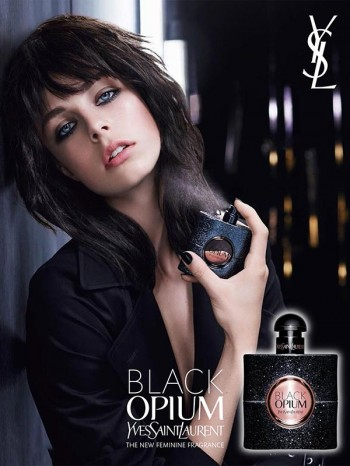 Edie Campbell's YSL Beauty Black Opium Fragrance Ad Revealed