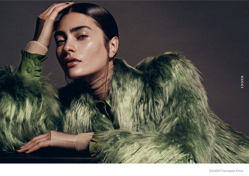 Marine Deleeuw Wears Modern Style for Dansk by Thanassis Krikis