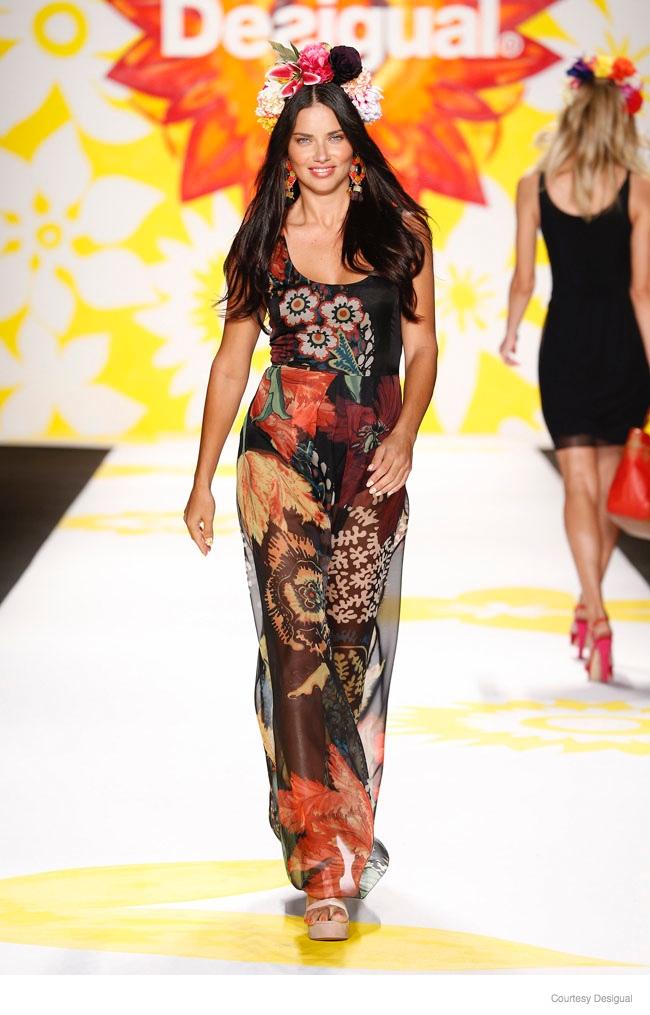 Adriana Lima at Desigual Spring/Summer 2015