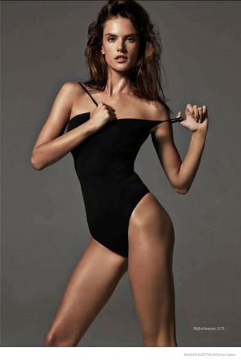 Alessandra Ambrosio Flaunts Body in Cover Story of Bazaar Australia