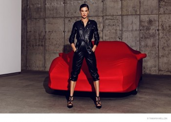 Alessandra Ambrosio is an LA Woman for Tamara Mellon Fall '14 Campaign