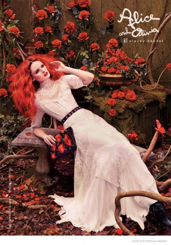 Lisa Cant Enchants for Alice + Olivia Fall 2014 Ads by Ruven Afanador