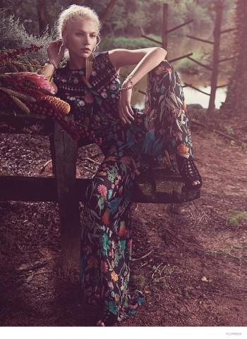 Aline Weber Models Bohemian Style for Florinda Spring 2014 Campaign