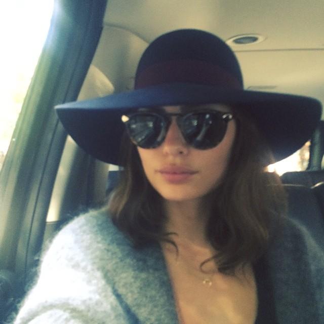 alyssa hat sunglasses Instagram Photos of the Week   Candice Swanepoel, Lara Stone + More Models