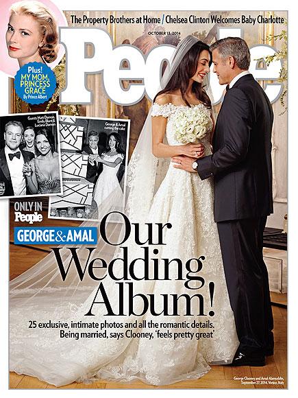 Amal Alamuddin & George Clooney Wedding Photo on People Magazine Cover