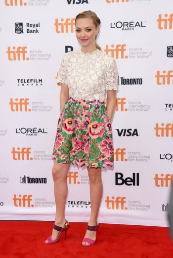 "Amanda Seyfried Charms in Valentino Lace & Florals at TIFF ""While We're Young"" Premiere"