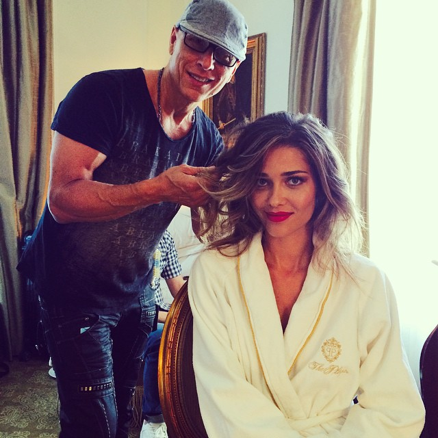 Ana Beatriz Barros getting all dolled up
