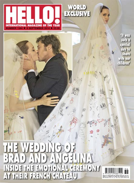 Another look at the dress on the cover of Hello! Magazine