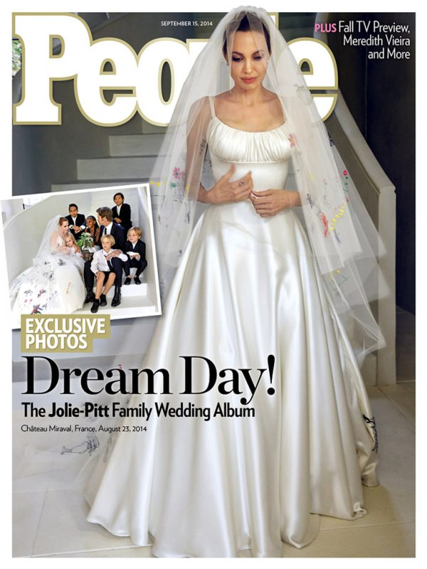 Angelina Jolie's Wedding Dress on People Magazine September 2014 Cover