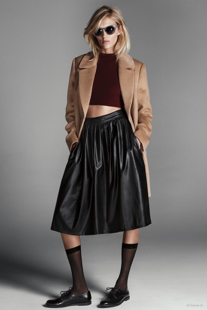 Anja Rubik Fronts Forever 21 Fall Outerwear Edit Campaign