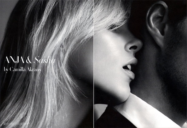 Anja & Sasha | Anja Rubik by Camilla Akrans for Man About Town F/W 2009