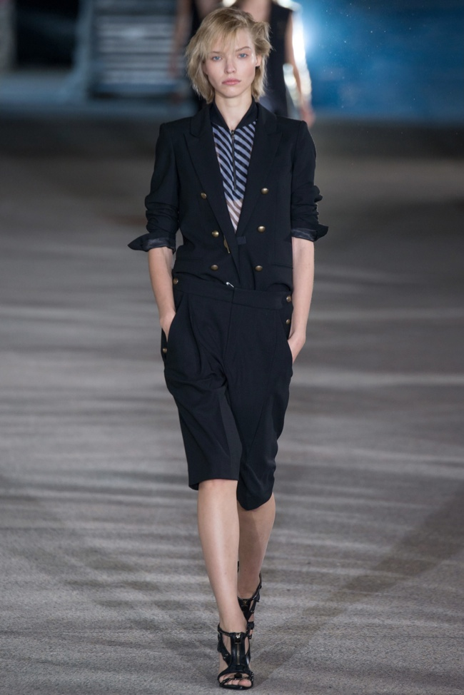 Anthony Vaccarello Goes Nautical, Graphic for Spring 2015