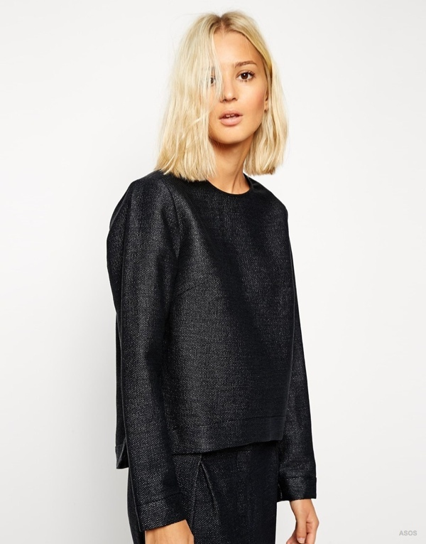 ASOS WHITE Raffia Top with Side Zip Detail available at ASOS for $123.48