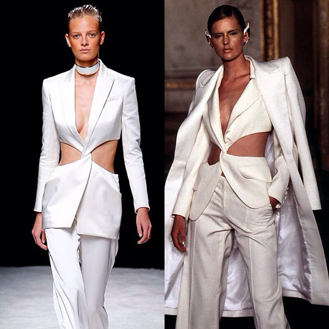 Who Did It Best? Balmain vs. Givenchy Couture Pantsuit