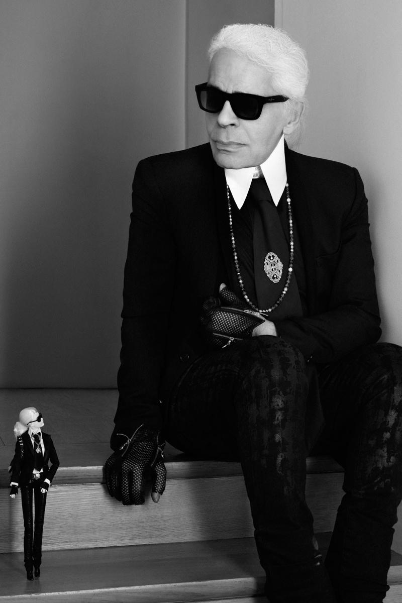Karl Lagerfeld Meets Barbie Lagerfeld