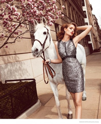 Nadja Bender Models Beaded Dresses for Neiman Marcus' The Book