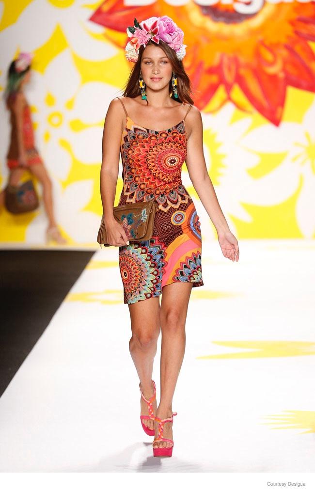 Adriana Lima Rocks the Desigual Spring 2015 Runway Show