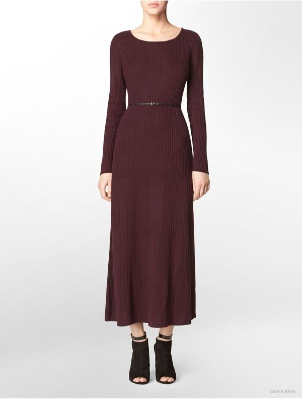 Rib Knit Maxi Dress available at Calvin Klein for $134.00