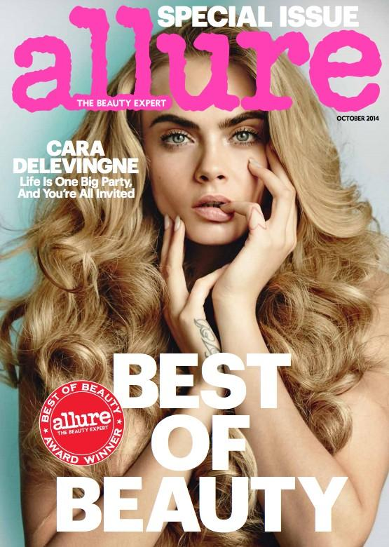 Cara Delevingne is a Blonde Bombshell on Allure October 2014 Cover